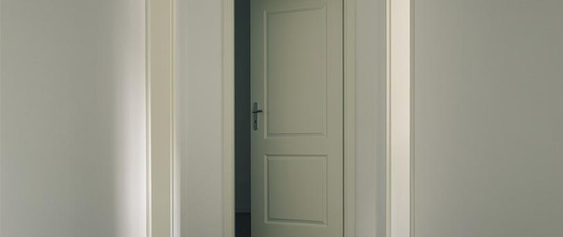 Timber door to room