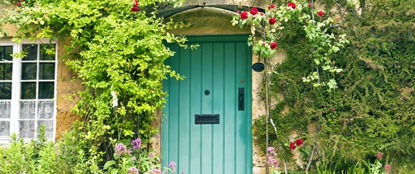 country wooden door