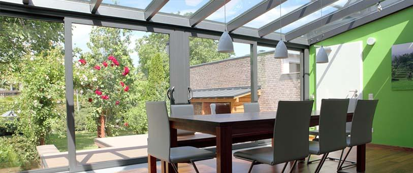 inside a lean to conservatory